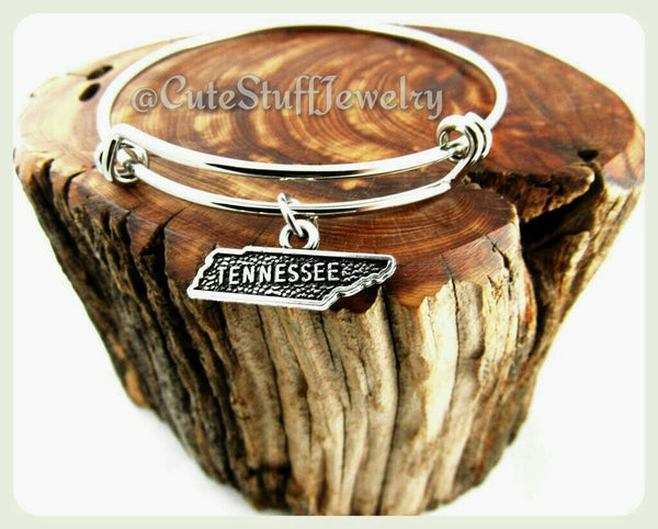 State of Tennessee Bracelet, State of Tennessee Bangle, Handmade Tennessee Jewelry, TN Bracelet, TN Bangle, State of USA Bracelet, States