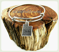 State of Utah Bracelet, State of Utah Bangle, Handmade Utah Jewelry, UT Bangle, State of USA Bracelet, UT Bracelet, State Bangle, States