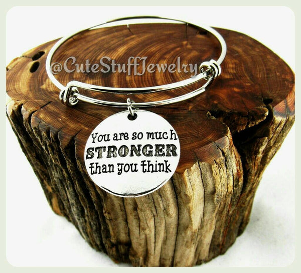 Stronger Than You Think Bracelet, Stronger Than You Think Bangle