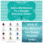 Custom Additional Birthstone Swarovski Charm for a Bangle Bracelet Order