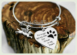 Forever in my heart bracelet, Forever in my heart bangle, No longer by my side but forever in my heart, Handmade Pet memorial jewelry, Angel