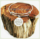 You are only confined by the walls you build yourself Bangle, Inspire bracelet, Inspirational Bracelet, Handmade Inspirational Jewelry,