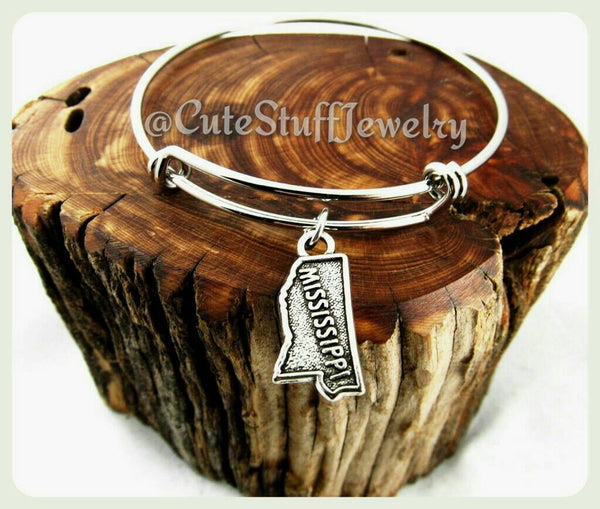 Mississippi State Bracelet, State of Mississippi Bangle