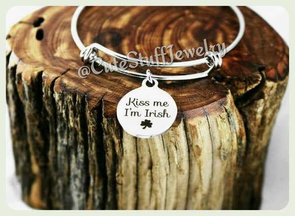 Kiss Me I'm Irish Bracelet, St Pattys Day