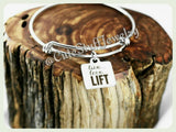 Live Love Lift Bracelet, Live Love Lift Bangle, Handmade Workout Jewelry, Fitness Bracelet, Weight Loss Bangle, Trainer Gift, Lift Jewelry