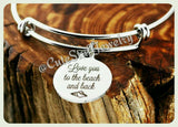 Love you to the beach and back Bracelet, Love you to the beach & back bangle