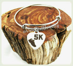 5k Run Bracelet, 5k Run Bangle, Handmade Runner Jewelry, Runners Bracelet Gift, 5k Marathon Runner, 5k Bracelet, 5k Bangle, 5k Jewelry Gift