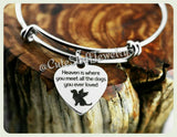 Heaven Dog bangle, Heaven is where you meet all the dogs you ever loved bracelet, Angel Dog bangle, Handmade Pet memorial jewelry