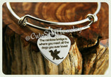 Rainbow Bridge Dog bangle, Rainbowbridge is where you meet all the dogs you ever loved bracelet, Handmade Angel Dog Bracelet, Pet Memorial