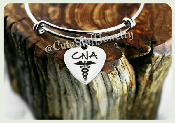 Certified Nursing Assistant Bracelet, CNA Bangle, CNA Bracelet, Certified Nursing Assistant Bangle, Handmade Nursing Bracelet, Nurses