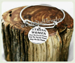 Strong Women Bracelet, Strong Women Bangle, Handmade Inspirational Jewelry, Strong Jewelry, Strength Bracelet, Feminism