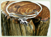 Flying Pig Bracelet, Pig Bangle, Piglet Bracelet, Handmade Pig Jewelry, Farm Bracelet, When Pigs Fly Jewelry, Piggy