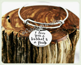I love you a bushel & a peck Bracelet, I Love you a bushel and a peck Bangle, Handmade Inspirational Jewelry, I love you Jewelry Gift