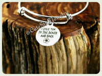 I Love you to the beach and back Bracelet, Love you to the beach & back bangle