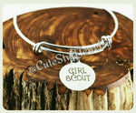 Girl Scout Bracelet, Girl Scout Bangle, Handmade Girl Scout Jewelry, Girl Scout Gift, GS Bracelet, GS Bangle, GS Jewelry