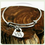 Faith Hope Love Bracelet,  Faith Hope Love Bangle, Heart Bangle, Charm Bracelet, Adjustable Bangle Bracelet, Handmade Inspirational Jewelry