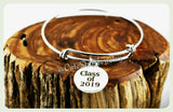 Class of 2019 Bracelet, Class of 2019 Bangle, Graduation Bracelet, Handmade Graduate Jewelry, Graduation Gift, Grad Gift, 2019 Graduate