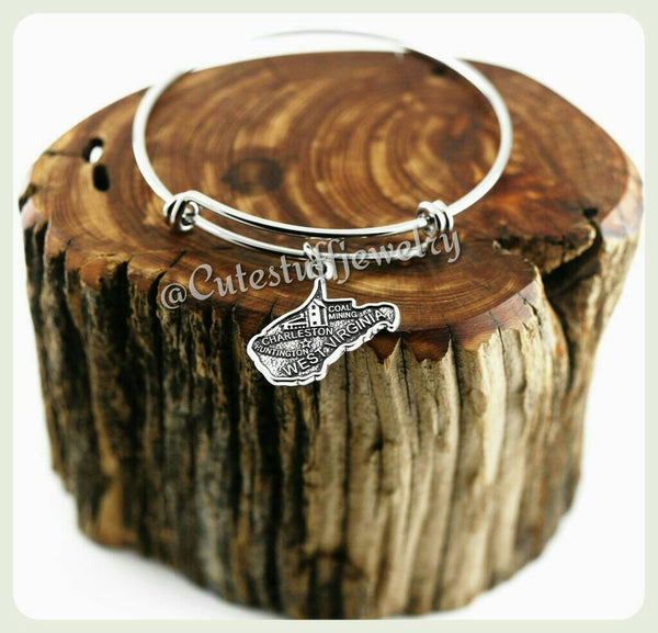State of West Virginia Bracelet, State of West Virginia Bangle