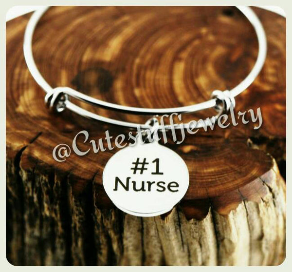 Number 1 Nurse Bracelet, #1 Nurse Bangle