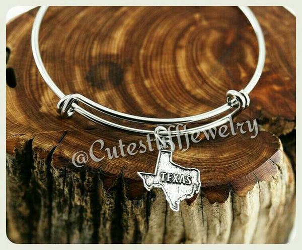 State of Texas Bracelet, State of Texas Bangle, Handmade Texas Jewelry, TX Bangle, TX Bracelet, Texan Jewelry, Texas Girl, Lone star State