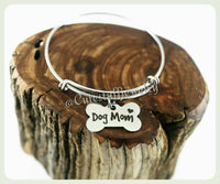 Dog Mom Bracelet, Crazy Dog Lady Bangle, Puppy Dog Bracelet, Handmade Dog Mom Jewelry, Dog Bangle, Dog Bracelet, Dogs, Dog Lover, Puppies