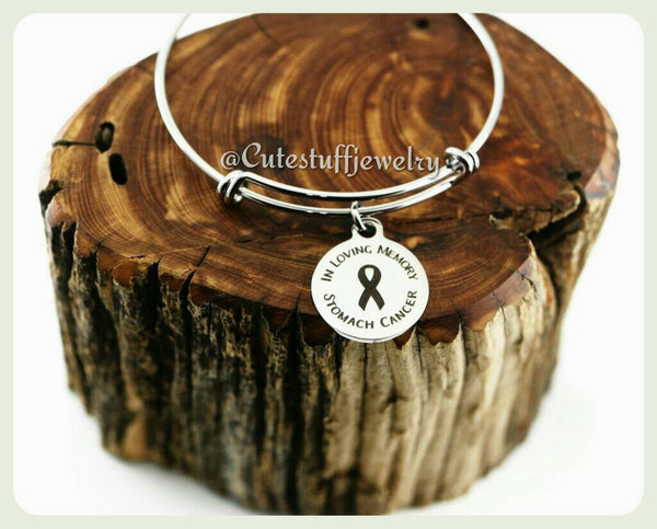 Stomach Cancer Bangle, In loving memory Stomach Cancer Bracelet