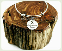 Endometrial Cancer Bracelet, Endometrial Cancer Bangle
