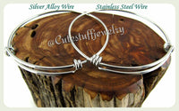 Breast Cancer Bangle, In loving memory Breast Cancer Bracelet