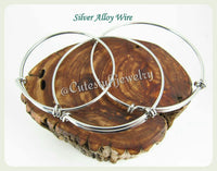 Colon Cancer Bangle, In loving memory Colon Cancer Bracelet, Handmade Colon Cancer Jewelry, Colon Cancer Awareness Ribbon, Colon Cancer Loss