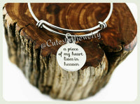 A Piece of My Heart Lives In Heaven Bracelet, A Piece of My Heart Is In Heaven Bangle