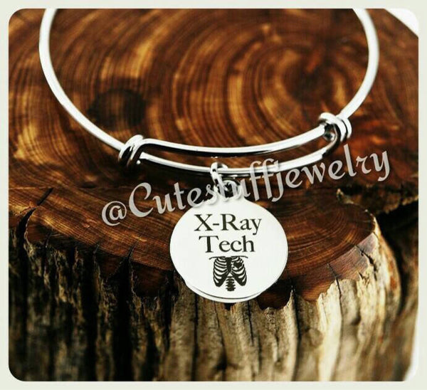 X-Ray Tech Bracelet, X-Ray Tech Bangle, Handmade Xray Technician Jewelry, Xray Technician Bracelet, XRT Gift, XRT Jewelry