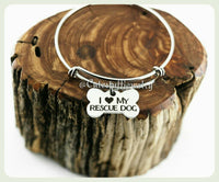 I love my Rescue Dog Bracelet, Rescue Dog Bangle, Puppy Dog Bracelet, Handmade Rescue Jewelry, Dog Bangle, Dog Bracelet, Dog Lover, Puppies