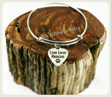 Live Love Rescue Bracelet, Animal Rescue Bangle, Handmade Animal Rescue Jewelry, Rescues Pets, Rescue Dog Bracelet, Rescue Cat Bracelet