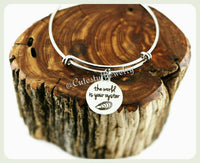 World is your oyster Bracelet, The Word is your oyster Bangle, Handmade Inspirational Jewelry, girl power, feminism, Graduation Gift, Grad