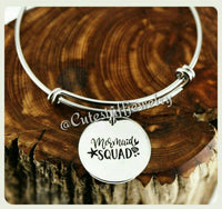 Mermaid Squad Bracelet, Mermaid Bangle, Handmade Mermaid Jewelry, Mermaid Accessory, Mermaids Bracelet, Mermaid Gift, Little Girl, Girls