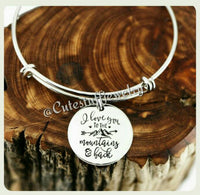 I Love you to the mountains and back Bracelet, Love you to the mountains & back bangle, I Love You Bangle, Handmade Love Jewelry, Valentines