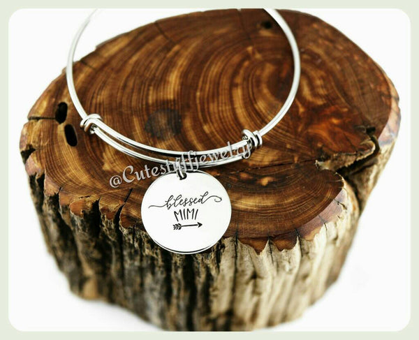 Blessed Mimi Bracelet, Blessed Mimi Bangle, Handmade Mimi Jewelry, Mama Gift, Mom Bangle, Mommy, Grandma, Grandmother, Grandmom gift