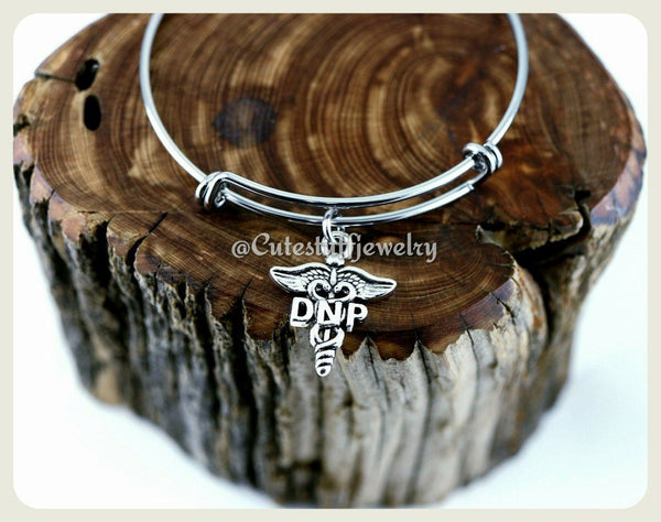 Doctor of Nursing Practice Bracelet, DNP Bangle, Handmade Nursing Bracelet, dnp Bracelet Gift, Nursing Appreciation, DNP Gift, DNP Jewelry