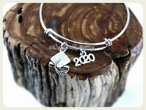 Class of 2020 Bracelet, Class of 2020 Bangle, Graduation Bracelet, Handmade Graduate Jewelry, Graduation Gift, Grad Gift, 2020 Grad Gift