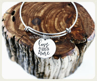 Love You More Bracelet, I Love You More Bangle, Handmade Love Jewelry, Inspirational Jewelry, Love Bangle, Love you more Gift