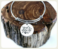 Home is where the pet is Bracelet, Hole is where the pawprint Bangle, Handmade Pet Jewelry, Dog Bracelet, Cat Bracelet, Rescue Pet Gift