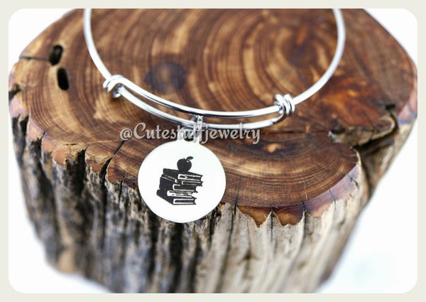 Student Teacher Bracelet, Teacher Bangle, Favorite Teacher Bracelet, Favorite Teacher Bangle, Handmade Teachers Appreciation Jewelry