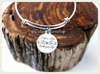 Fall in Love with your life Bracelet, Love Life Bangle, Handmade Inspirational Jewelry, Inspirational Bangle, Love Life Gift, Life is a Gift