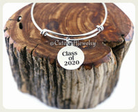 Class of 2020 Bracelet, Class of 2020 Bangle, Graduation Bracelet, Handmade Graduate Jewelry, Graduation Gift, Grad Gift, 2020 Graduate