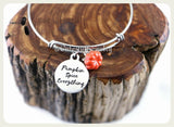Pumpkin Spice Everything Bracelet,  Pumpkin Everything Bangle, Handmade Fall Jewelry, Pumpkin Bracelet, Pumpkin Spice Latte, Pumpkin Spice C