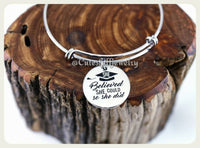 She believed she could so she did Bracelet, She believed she could so she did Bangle, Handmade Inspirational Jewelry, girl power, Grad Gift