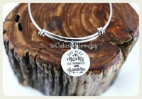 The Best Moms get promoted to Grandma Bracelet, Grandma Bangle, Handmade Grandma Jewelry, Grandma Bracelet, Inspirational Family Bracelet