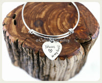 Forever in my Heart Bracelet, Forever in my Heart Bangle, Handmade Memorial Jewelry, Family Loss, Grieving, Miscarriage,