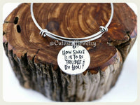 How sweet it is to be taught by you Bracelet