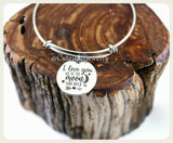 I Love you to the moon and back bracelet, I love you to the moon and back bangle, handmade love jewelry, Love bracelet, Love Bangle Gift